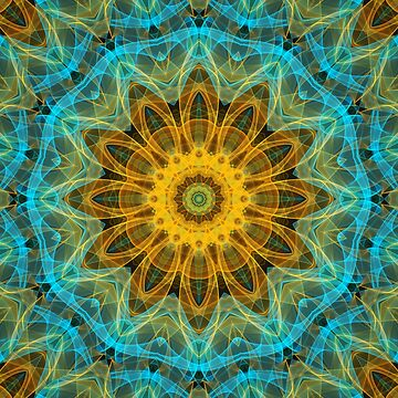Ocean star Boho Flower Mandala by Zand