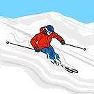 Skier Illustration by Adam Regester