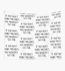 if you don't make mistakes, you won't get far. Wall Tapestry
