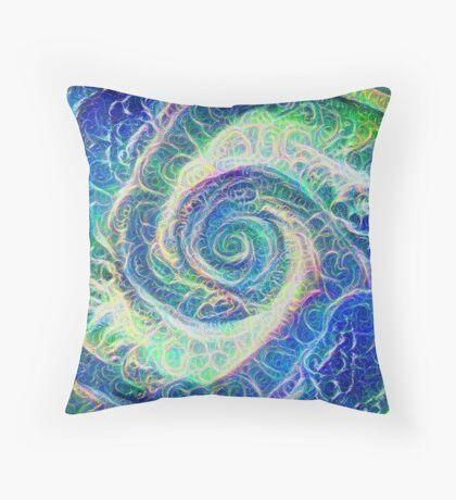 Vortex dragon #DeepDream B Throw Pillow