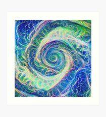 Vortex dragon #DeepDream B Art Print