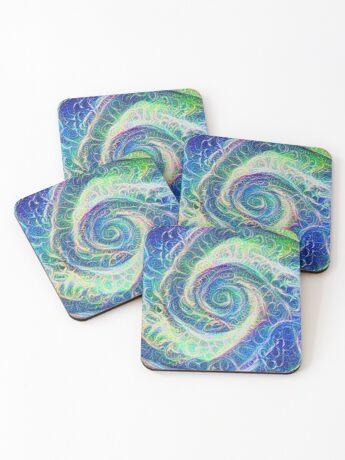 Vortex dragon #DeepDream B Coasters