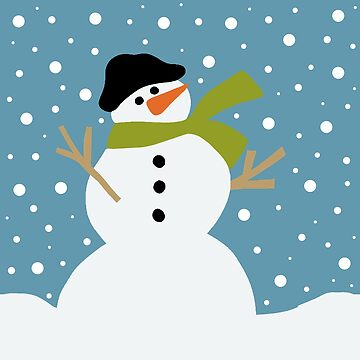 Cute snowman by ValentinaHramov