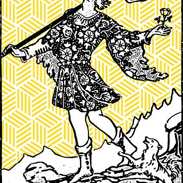 Geometric Tarot Print - The Fool by annaleebeer