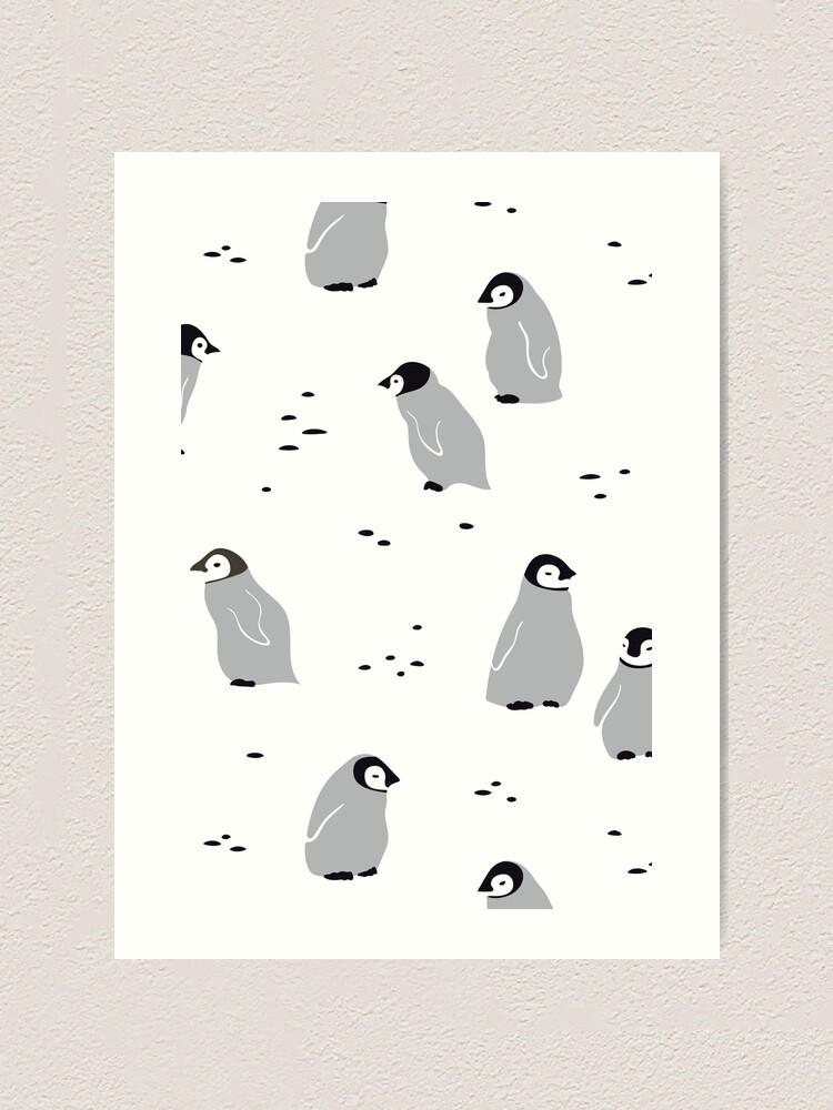 Alternate view of Baby Emperor penguin Chicks  Art Print
