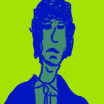 British Blues Rocker, in Green and Blue by SGLAZARUS