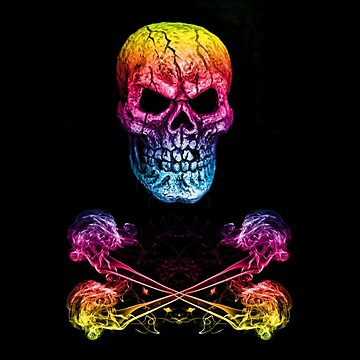 Skull And Crossbones Rainbow by silversnapper1