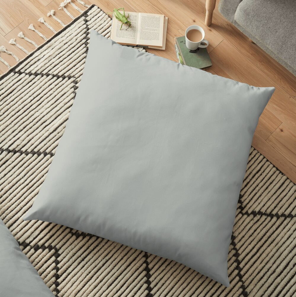 PANTONE 14-4503 TCX Metal Floor Pillow