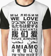 Yandhi - We Love In All Languages Graphic T-Shirt