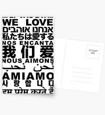 Yandhi - We Love In All Languages Postcards