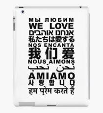 Yandhi - We Love In All Languages iPad Case/Skin