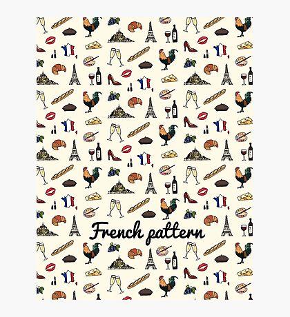 Motif Français Impression photo