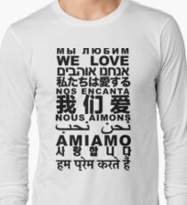 Yandhi - We Love In All Languages Long Sleeve T-Shirt