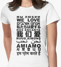 Yandhi - We Love In All Languages Women's Fitted T-Shirt