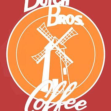 Orange Windmill Dutch bros coffee by MimieTrouvetou