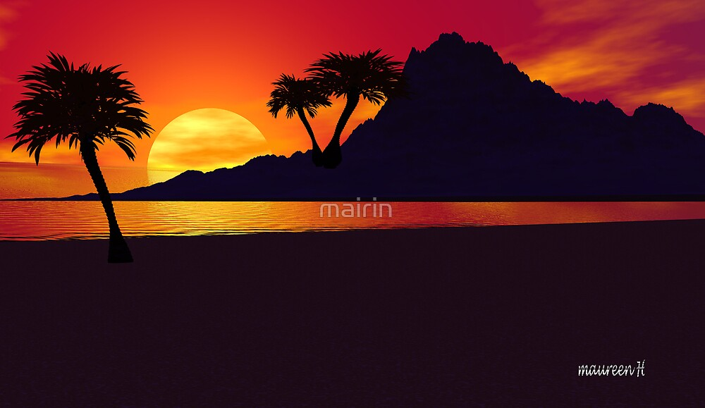 A Tropical Silhouette. by mairin