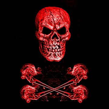 Skull And Crossbones Red by silversnapper1
