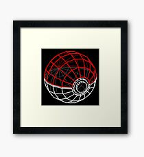 Pokeball 3D Framed Print