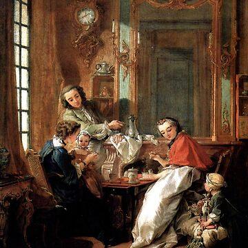 Breakfast( Le Dejeuner)-Francois Boucher by LexBauer
