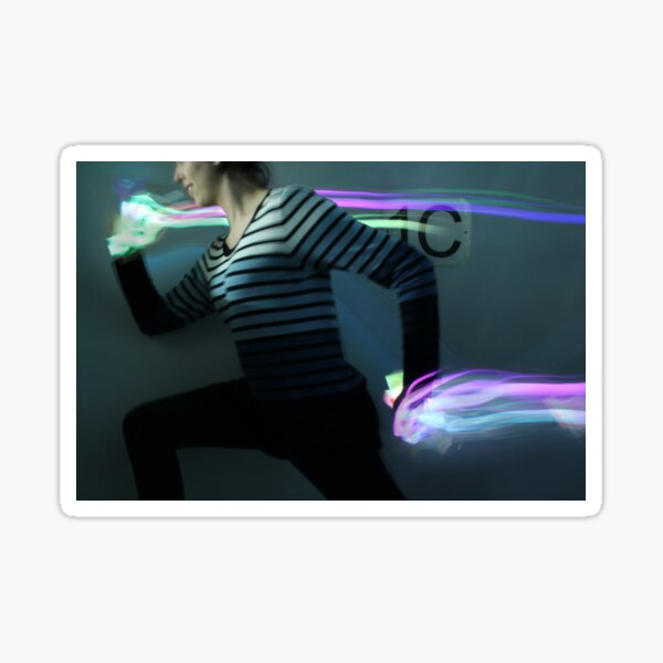 Humans: Person Running & Neon Lights Sticker