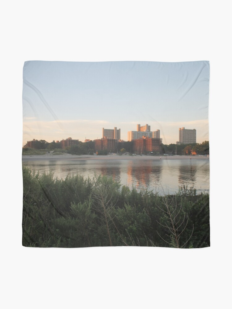 Alternate view of #city #skyline #water #cityscape #urban #river #downtown #sky #panorama #building #architecture #buildings #park #skyscraper #blue #view #reflection #sunset #lake #travel #town #sunrise #landscape Scarf