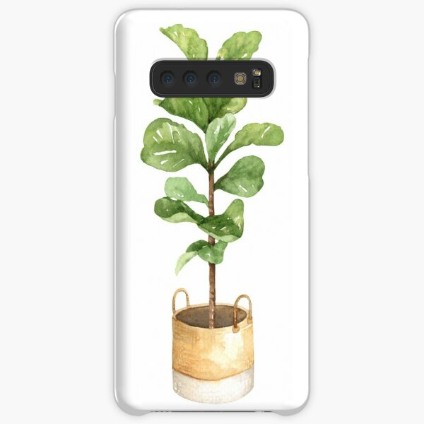 Fiddle leaf fig, houseplant, potted plant, fiddle leaf Samsung Galaxy Snap Case