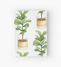 Fiddle leaf fig, houseplant, potted plant, fiddle leaf Hardcover Journal