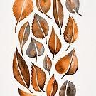 Cascading Blätter - Orange Palette von Cat Coquillette