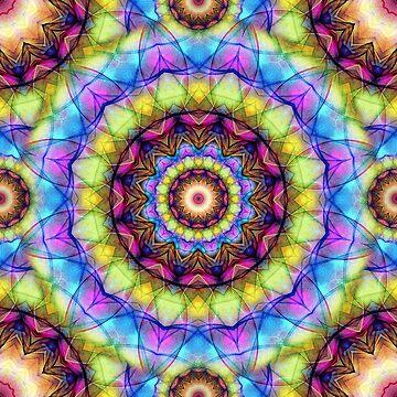Rainbow Glass Boho Mandala by Zand