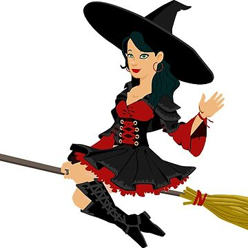 Halloween Witch Broom by MartinV96