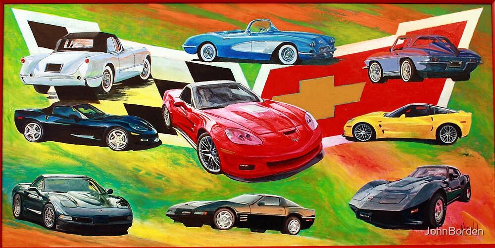 Corvettes 1953 to 2010 by JohnBorden