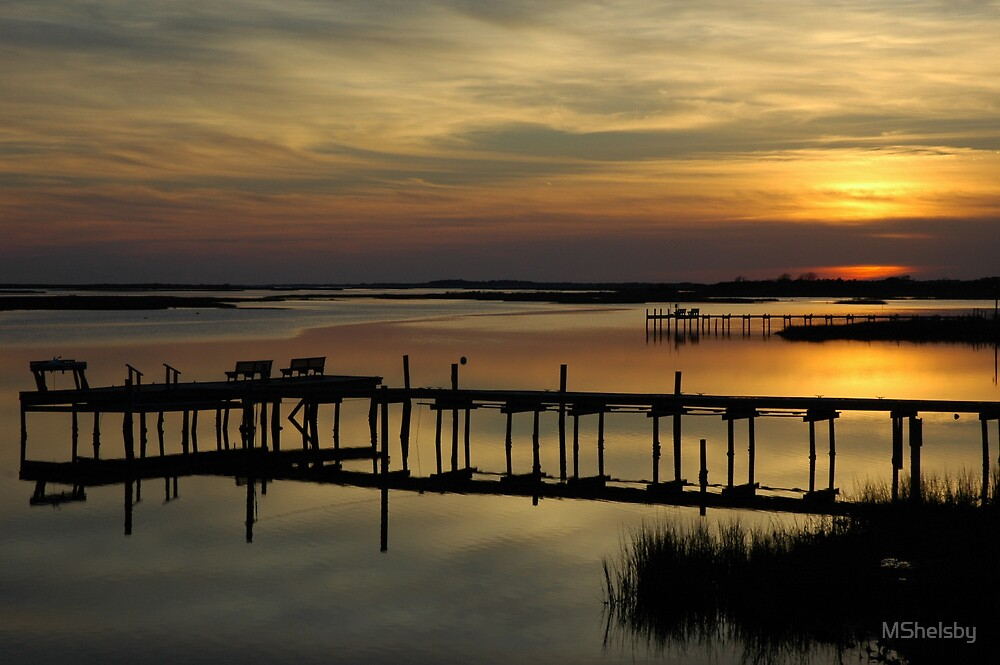Sunset over Intercoastal Waterway by MShelsby