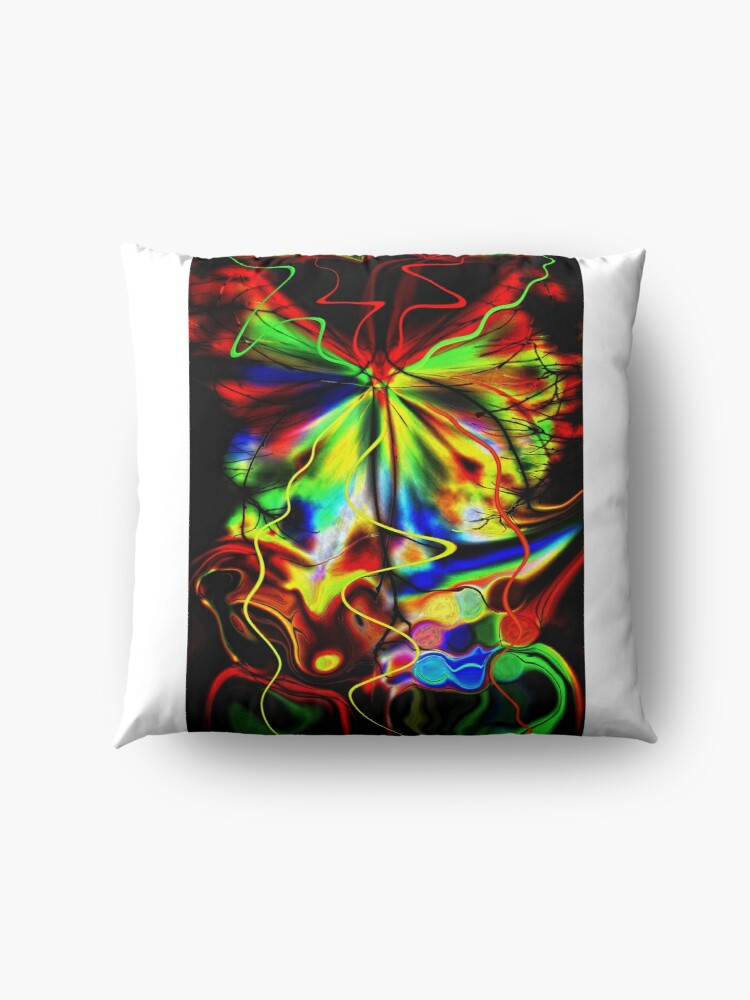 Alternate view of Just Before the Sun Will Rise Floor Pillow