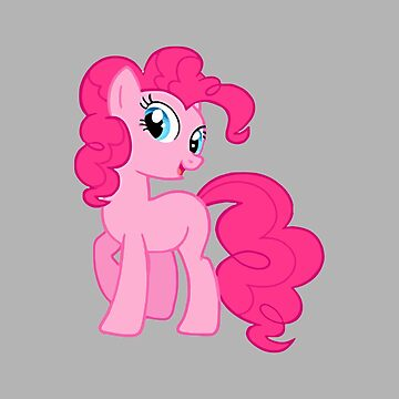 Cartoon illustration of a pink pony by PM-TShirts