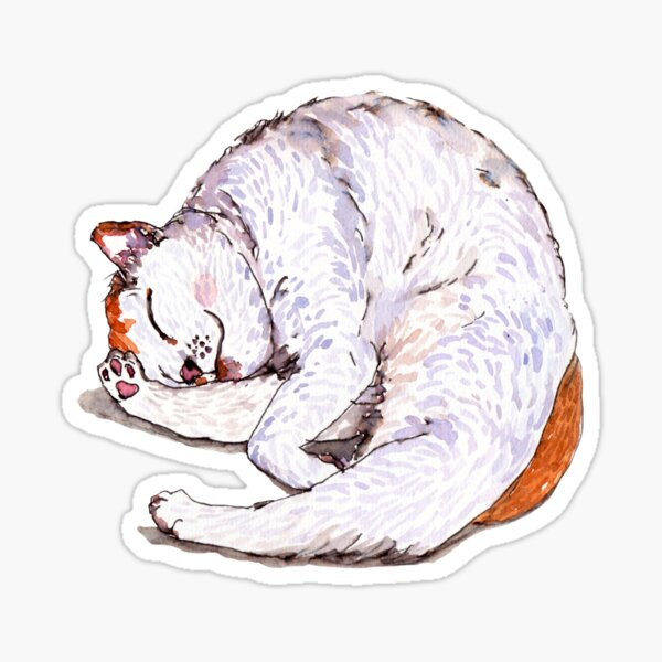 Tommy the Furball is Sleeping Sticker