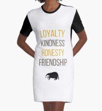 Yellow words Graphic T-Shirt Dress