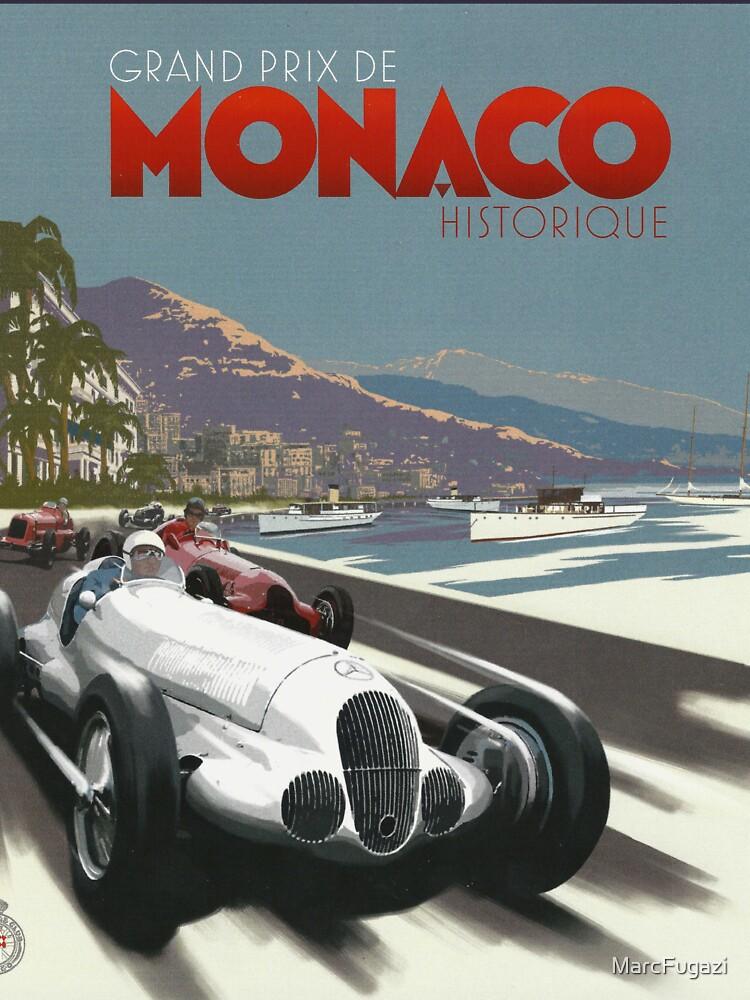 Retro Plakat Grand Prix von Monaco 1929 von MarcFugazi