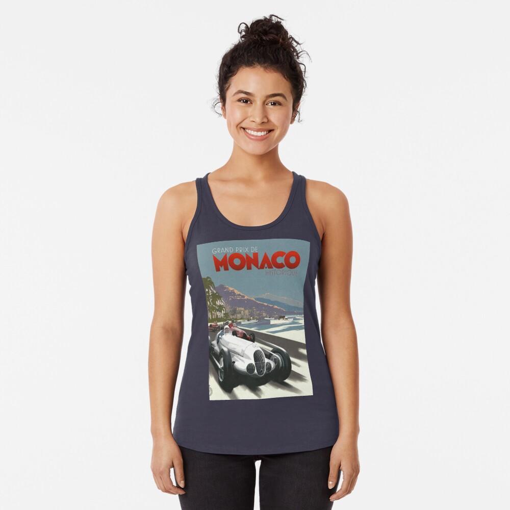 Retro Plakat Grand Prix von Monaco 1929 Racerback Tank Top