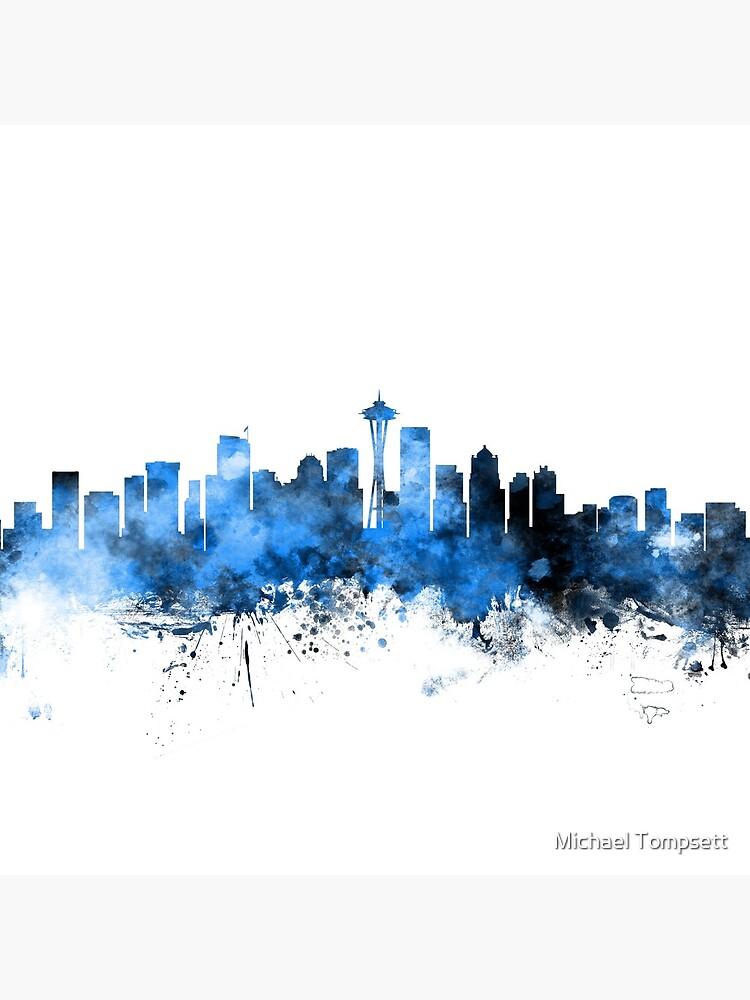 Seattle Washington Skyline by ArtPrints