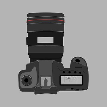 Cartoon illustration of a DSLR camera by PM-TShirts