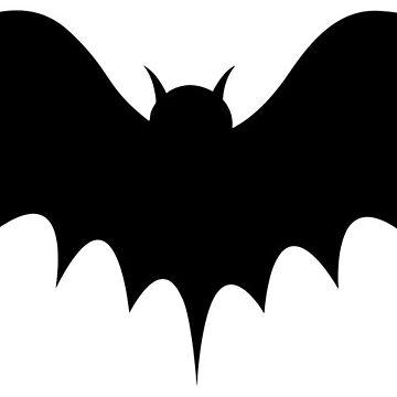 Halloween Big Bat Silhouette  by MartinV96
