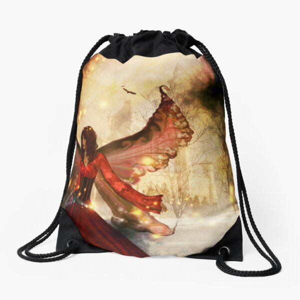 Peering into fantasy Drawstring Bag