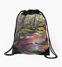 Blue Mountains Stream Drawstring Bag