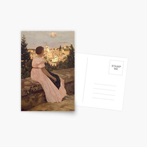 The Pink Dress (Bazille) Postcard
