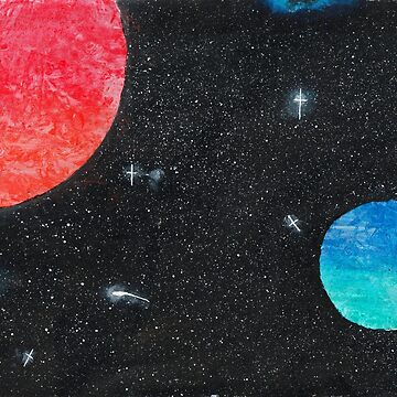 Planets in Space by feeble-platypus