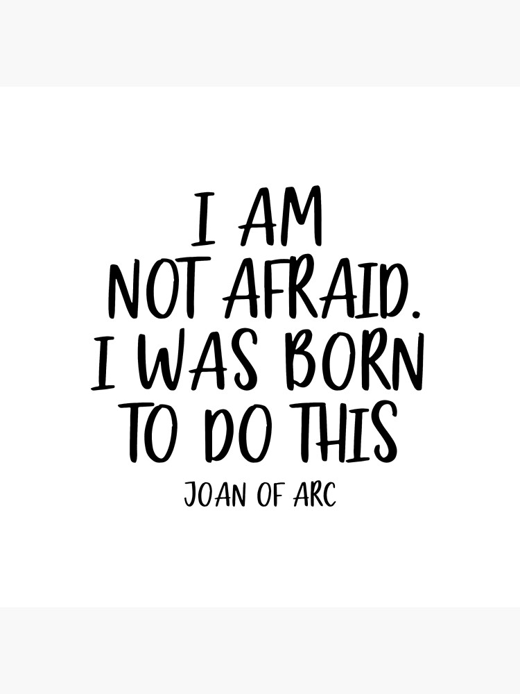 24 Ounce Inspirational Joan of Arc I Am Not Afraid I Was Born to Do This Water Bottle Gifts for Women