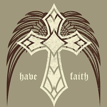 Have Faith Cross Angel by overstyle