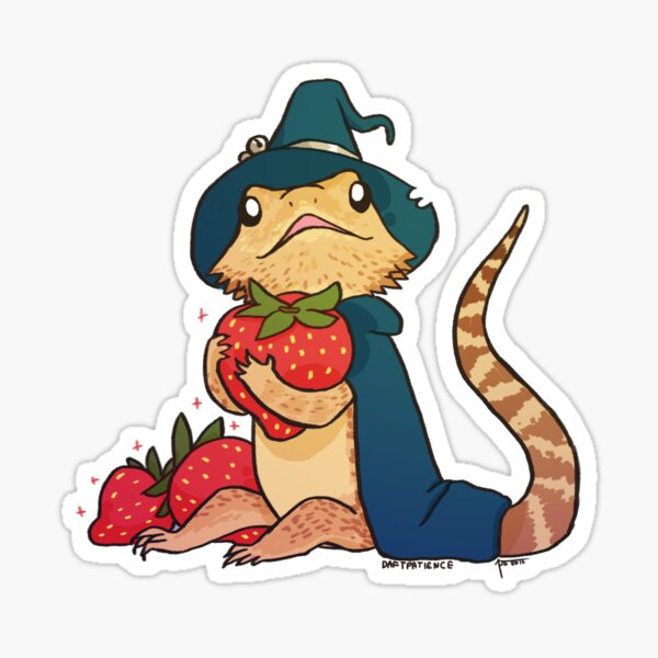 Dragon barbu - Grognement Sticker