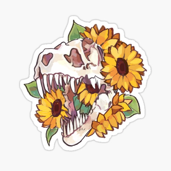Dinosaur Skull Sticker