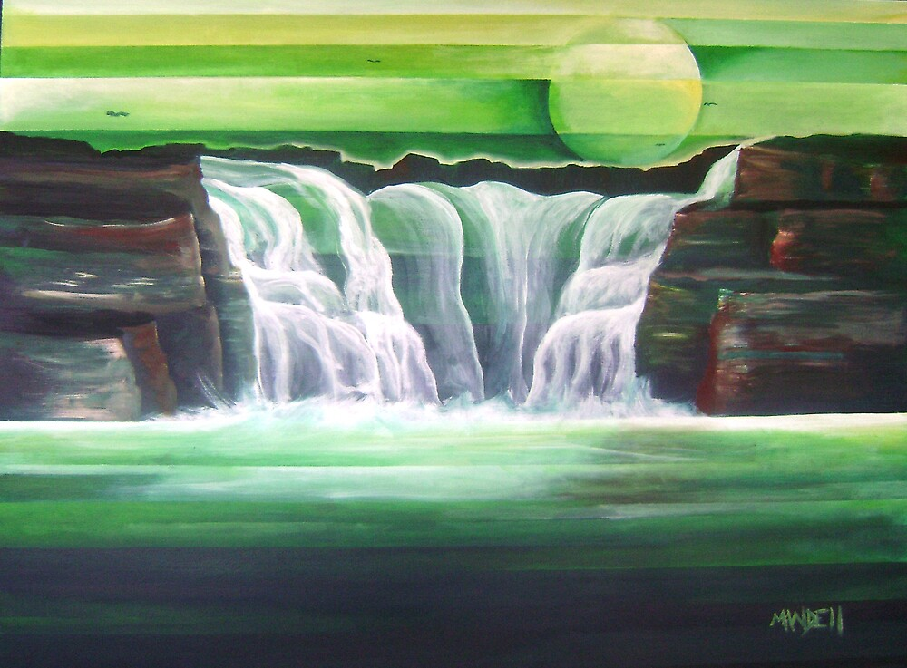 The Journey (Waterfalls) by Mandell Maull